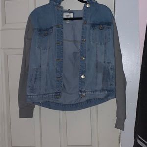 Denim / sweater jacket